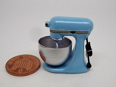 1:12 Scale Non Working Blue Food Mixer Dolls House Miniature Kitchen Accessory