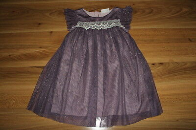 NEXT girls purple with gold dress 18-24 months *I'll combine postage