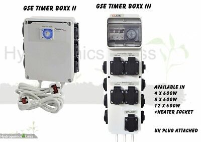 GSE Timer 4 8 12 Way Professional Contactor Relay Grow Light Hydroponics 600w