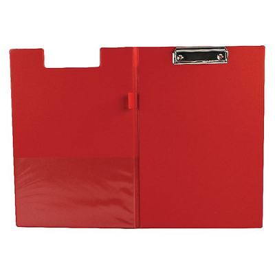 Q-Connect Red A4/Foolscap PVC Foldover Clipboard KF01302 [KF01302]