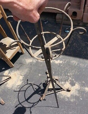 "Antique 29 1/2"" Tall Wrought Iron Plant Stand"