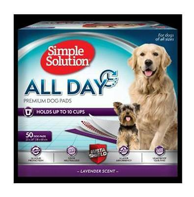 Simple Solution All Day Premium House Training Pack 50 Pads Dog & Puppy Scented