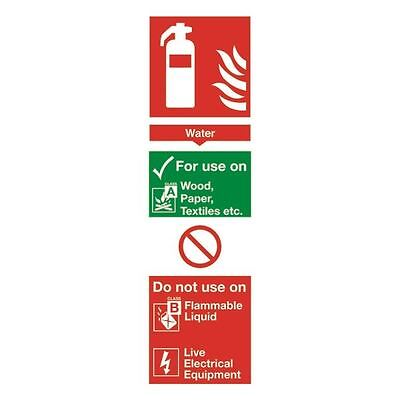 Safety Sign Fire Extinguisher Water 280x90mm PVC F100/R [SR71133]