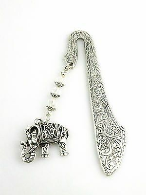 Beautiful Filigree Elephant Bookmark Safety Protection Charm Gift For Loved One