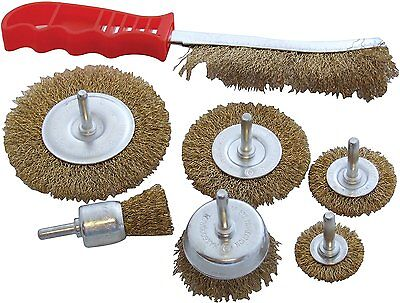 7 pc DRILL WIRE WHEEL CUP BRUSH For Polishing, Rust , etc - HEAVY DUTY SET