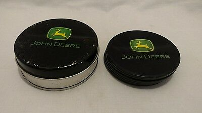 John Deere Coasters and Tin, Set of (6)