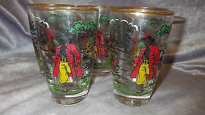 Vintage Tumblers Glasses in Treasure Island by Libbey - Rock Sharpe 5 10oz