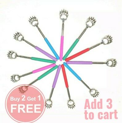 """Back Scratcher Bear Claw Extendable up to 22"""" 5 Color Choices Telescopic"""