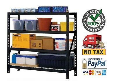 Husky Garage Shelving Storage 77x78x24 Heavy Duty Garage Steel Organizer Shelves