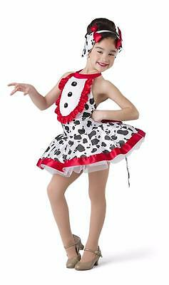 NEW Dance Costume XSC SC IC Red Black Doggy Ballet Tap Solo Competition Pageant