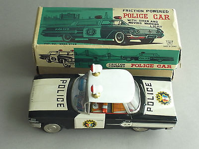 Ichiko Blech Friction powered Chevrolet Impala Police Car in original Box RAR!