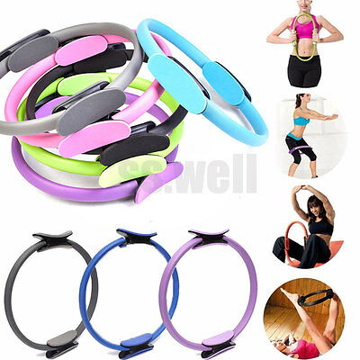 Pilates Ring Dual Grip Magic Circle Body Sport Exercise Fitness Weight Yoga Tool