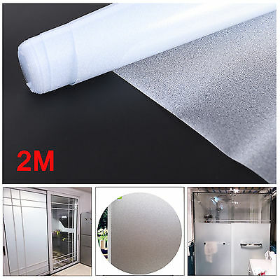 2M Elegant & Graceful Frosted Static Glass Decorative Vinyl Privacy Window Film