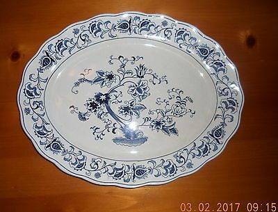 Vintage Nikko DOUBLE PHOENIX 'Ming Tree' Blue and White Platter