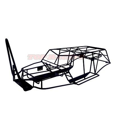 1/10 Scale Rc Truck Axial Wraith Steel Frame Body Roll Cage Black