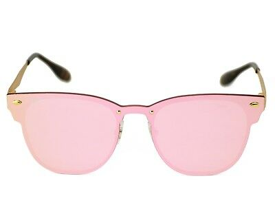 f9feaeb0054 RayBan RB3576N Blaze Clubmaster 043 E4 Gold Frame Pink Mirror Lenses Unisex  47mm
