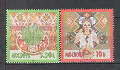 Moldova 1997 Easter 2 MNH stamps