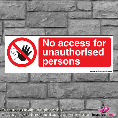 No Access 4 - Health & Safety Warning Prohibition Sign Sticker