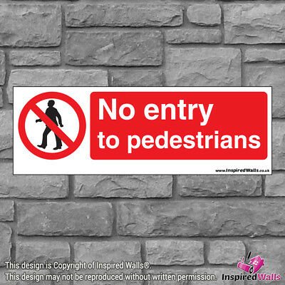 No Entry To - Health & Safety Warning Prohibition Sign Sticker