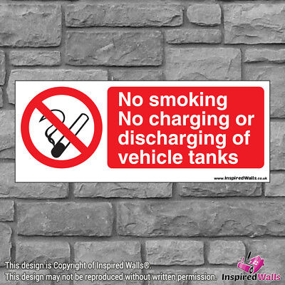 2x No Smoking No - Health & Safety Warning Prohibition Sign Sticker Waterproof