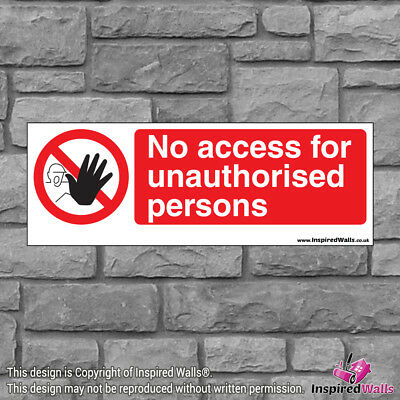 No Access 2 - Health & Safety Warning Prohibition Sign Sticker