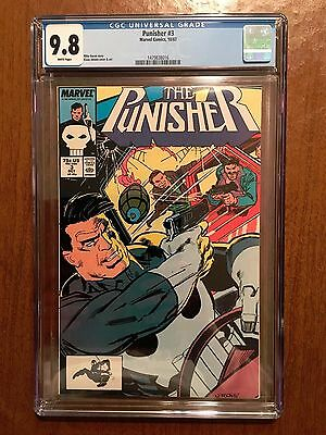 Marvel Punisher 3 CGC 9.8 White Pages 1987 Perfect Centered Cover!