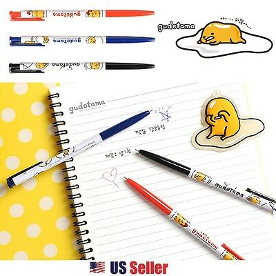 Sanrio Gudetama Lazy Egg 3pcs Ballpoint Pen Set : Black, Blue, Red