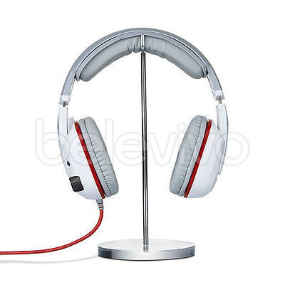 Universal Metal & Acrylic Headphone Headset Hanger Holder Desk Display Stand UK