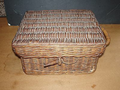 Antique English Primitives Picnic Basket Filled One of a Kind Found in Maine