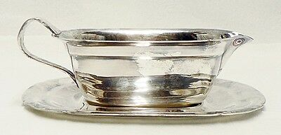 Reed And Barton Mayflower Silver Plate Gravy Boat # 5000