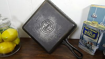 #6 Griswold 2106 Square Fry Cast Iron Skillet Erie Vtg USA Cleaned Seasoned