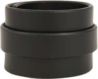 "Black Wrap Around Cuff - 2 1/2"" Wide - Handmade Latigo Leather Wristband"