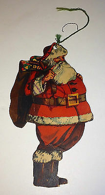 """Vintage Paper Santa Claus Xmas Ornament """"Hang Me On Your Christmas Tree"""" Holiday"""