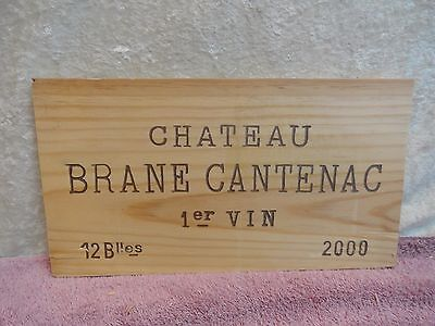 2000 Chateau Brane Cantenac Margaux Wood Wine Panel End