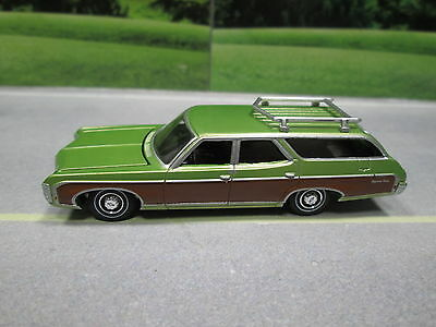 1969 CHEVY KINGSWOOD ESTATE WAGON (green) S SCALE DIE-CAST FOR LAYOUT or DIORAMA