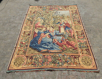 Vintage French Beautiful Tapestry 195X148cm (A1274)
