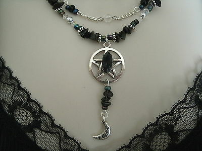 Discreet Pentacle Necklace, wiccan pagan wicca pentagram witch witchcraft magic