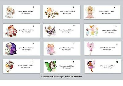 Personalized Return Address Labels Angels Buy 3 get 1 free (a 1)