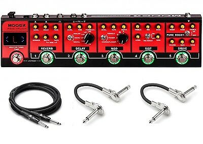 New Mooer Red Truck Multi Effects Strip Guitar pedal w/ Case!