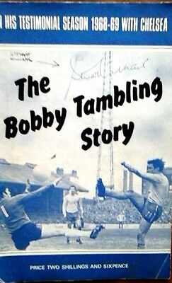 Chelsea Tambling Brochure 68/9 Autographed X 4 Sexton, Charlie Cooke,
