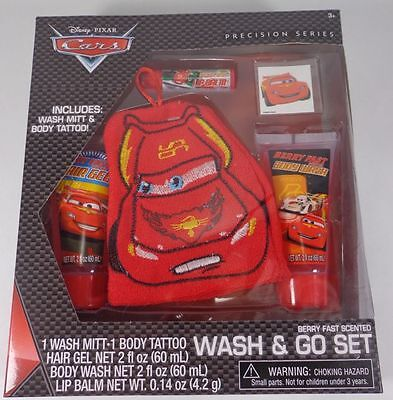Disney's Pixar Cars Precision Series Wash and Go Set Berry Fast Scented New