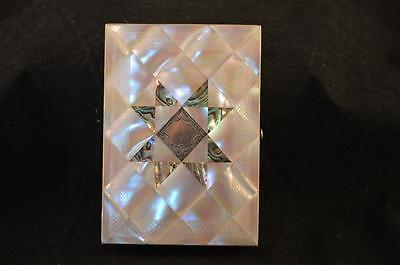Exquisite Victorian Mother Of Pearl, Abalone And Silver Purse