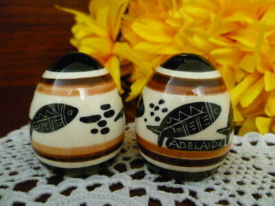 Adelaide Salt & Pepper Small Pots Unsigned Hand Painted Ceramic Studio Pottery