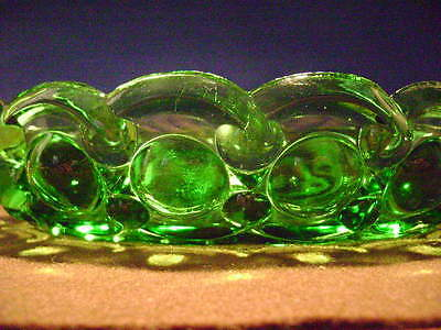 """Emerald Green Electric Pattern 8 1/2"""" Oval Bowl"""