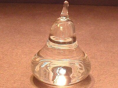 Vintage Signed Steuben Crystal Art Glass Pear Paperweight