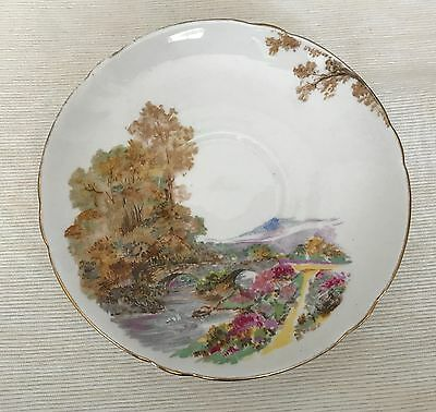 """Single Shelley """"Heather"""" saucer, good condition"""