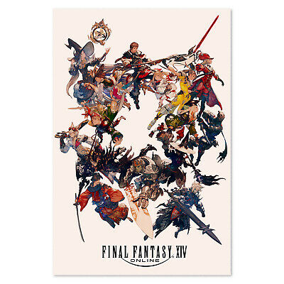 Final Fantasy XIV Online Poster - All Classes - High Quality Prints