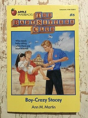 Baby-Sitters Club Book #8 Boy-Crazy Stacey VGC Ann M. Martin 1987