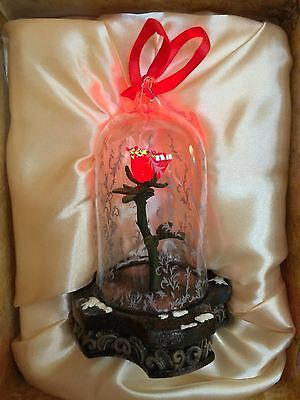 Disney Store Beauty and the Beast Live Action Enchanted Rose Light Up Ornament