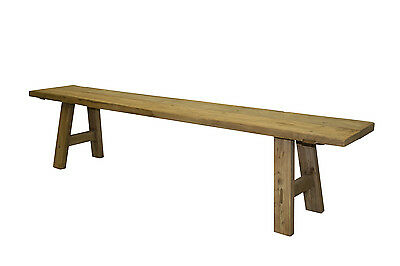 Solid Elm bench seats Rustic low bench recycled elm Natural colour timber